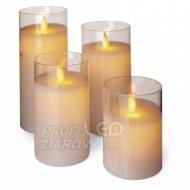 LED sviečky, 5×10/12,5/15/17,5cm, bi...