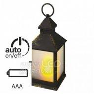 LED dekorácia - lampáš mliečny, 3x A...