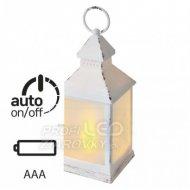 LED dekorácia - 6x lampáš mliečny, 3...