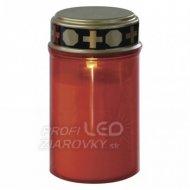 LED náhrobná sviečka, 2× C, červená,...