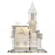 LED kostol akrylový, 21cm, 3× AAA, t...