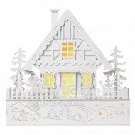 LED vianočný domček, 28cm, 2× AAA, t...