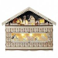 LED adventný kalendár, 19x40cm, 2x A...