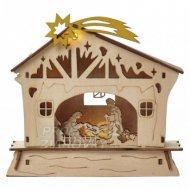 LED vianočný betlehem, 18cm, 2× AAA,...
