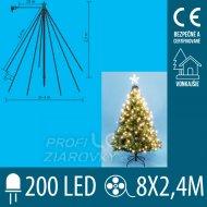 Vianočná led svetelná pyramída vonka...