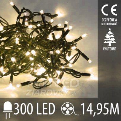 Vianočná LED svetelná reťaz vnútorná - 300LED - 14,95M Teplá biela