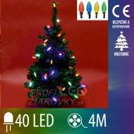 Vianočná led svetelná reťaz vnútorná - šišky - 40led - 4m multicolour