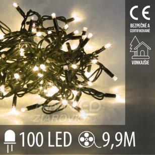 Vianočná LED svetelná reťaz vonkajšia - 100LED - 9,9M Teplá biela