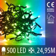 Vianočná LED svetelná reťaz vonkajšia - 500LED - 24,95M Multicolour