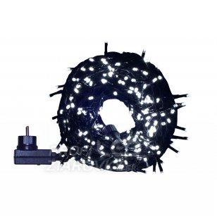 Vianočná LED svetelná reťaz vonkajšia s časovačom - 300LED - 14,95M Studená Biela