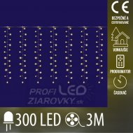 Vianočná LED svetelná mikro záclona ...