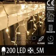Vianočná LED svetelná záclona na spá...