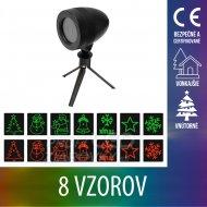 Vianočný LED svetelný projektor vonk...