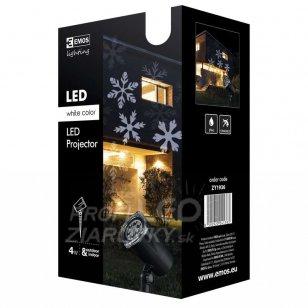 Vianočný projektor LED biele vločky